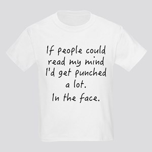 Punched In The Face A Lot Kids Light T-Shirt