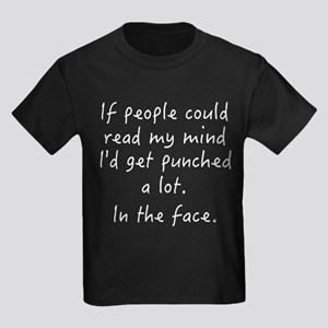 Punched In The Face A Lot Kids Dark T-Shirt