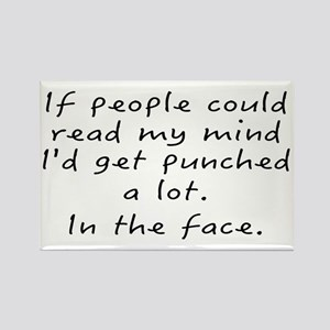 Punched In The Face A Lot Rectangle Magnet