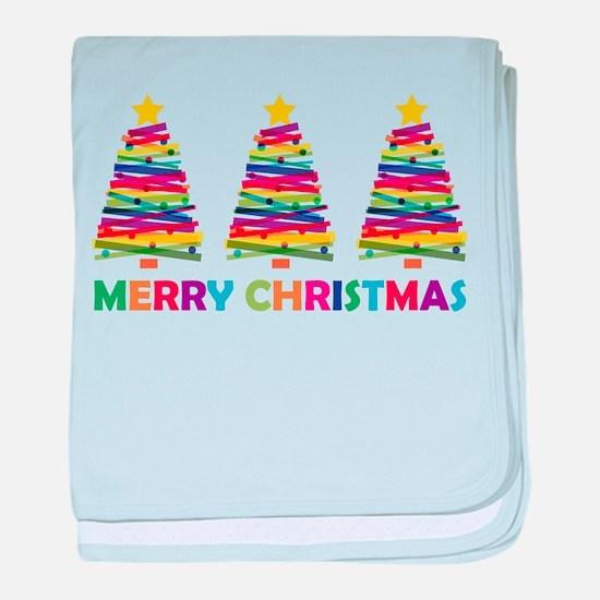 Colorful Christmas Tree baby blanket