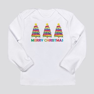 Colorful Christmas Tree Long Sleeve T-Shirt