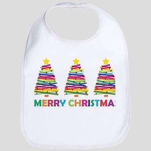 Colorful Christmas Tree Bib