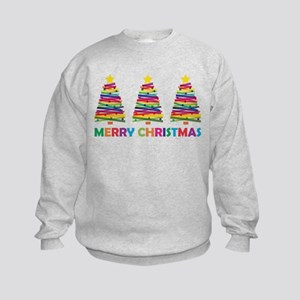 Colorful Christmas Tree Kids Sweatshirt