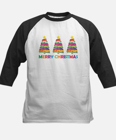 Colorful Christmas Tree Baseball Jersey