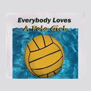 Everybody Loves a Polo Girl Throw Blanket