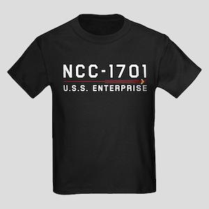USS Enterprise Original Light Kids Dark T-Shirt