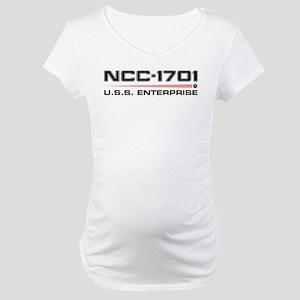 USS Enterprise Refit Dark Maternity T-Shirt