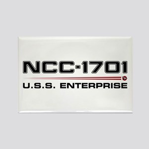 USS Enterprise Refit Dark Rectangle Magnet