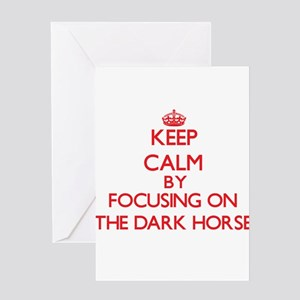 Keep Calm by focusing on The Dark H Greeting Cards