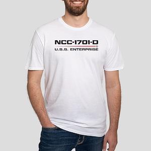 USS Enterprise-D Dark Fitted T-Shirt