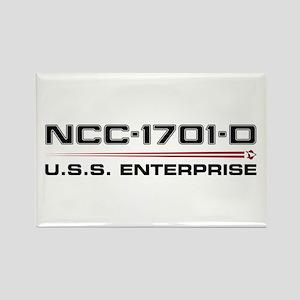USS Enterprise-D Dark Rectangle Magnet
