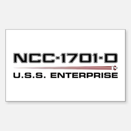 USS Enterprise-D Dark Sticker (Rectangle)