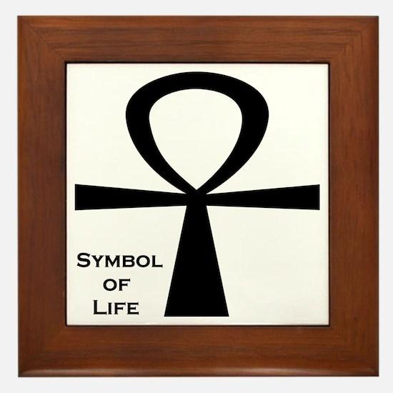 Symbol of Life Framed Tile