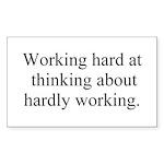 Working Hard Sticker (Rectangle 50 pk)