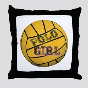 Polo Girls Throw Pillow