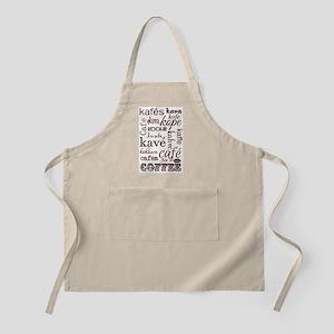the language of coffee Apron