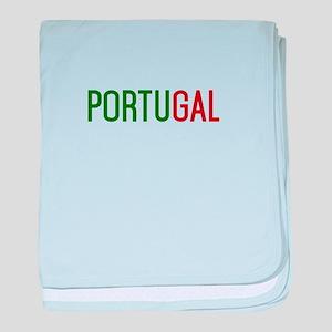 Portugal logo baby blanket