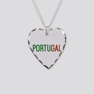 Portugal logo Necklace Heart Charm