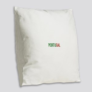 Portugal logo Burlap Throw Pillow