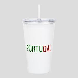 Portugal logo Acrylic Double-wall Tumbler
