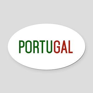 Portugal logo Oval Car Magnet