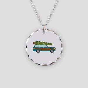 Christmas Tree Station Wagon Car Necklace