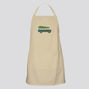 Christmas Tree Station Wagon Car Apron