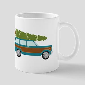Christmas Tree Station Wagon Car Mugs