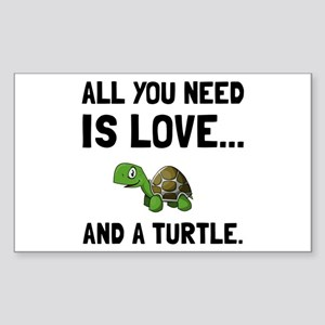 Love And A Turtle Sticker