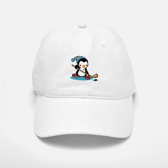 Ice Hockey Penguin Baseball Baseball Cap
