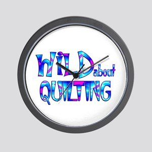 Wild About Quilting Wall Clock