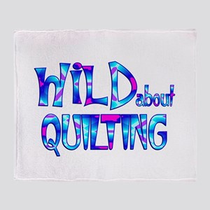 Wild About Quilting Throw Blanket