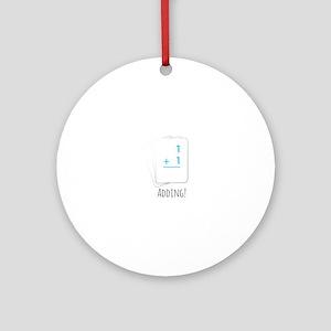 Adding Flashcards Ornament (Round)