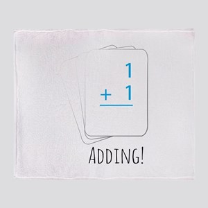 Adding Flashcards Throw Blanket