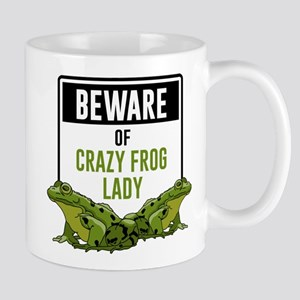 Beware of Crazy Frog Lady 11 oz Ceramic Mug