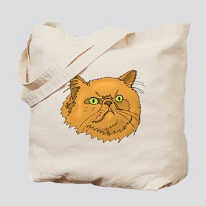 Brown Cat Face Tote Bag