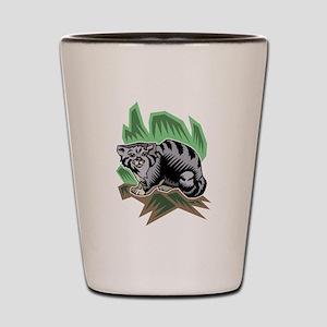 Striped Cat Shot Glass