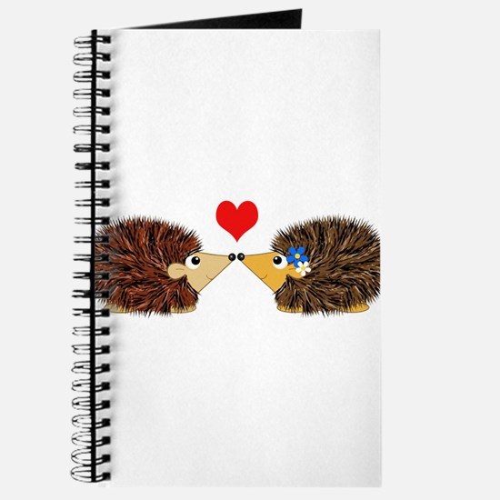 Cuddley Hedgehog Couple with Heart Journal