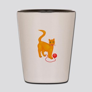 Cat With Yarn Shot Glass
