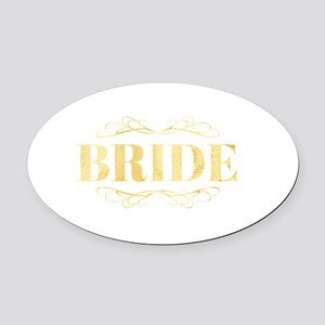Bridal Party Oval Car Magnet