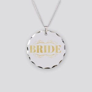 Bridal Party Necklace Circle Charm