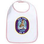USS IOWA Cotton Baby Bib