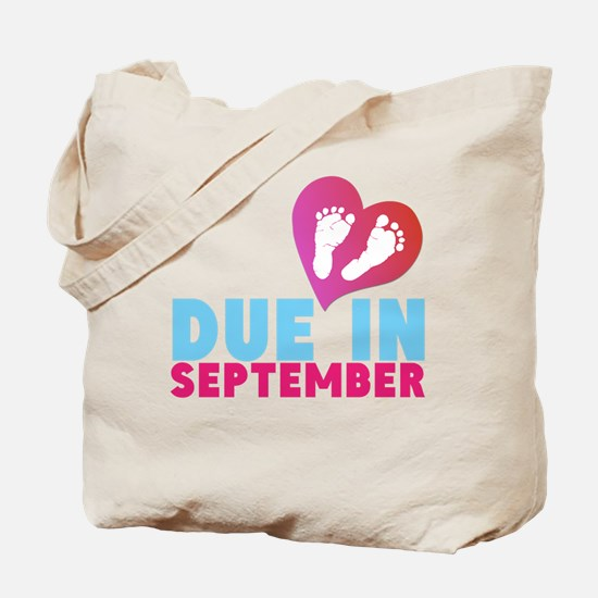 Due in (Month) Baby Footprints Tote Bag
