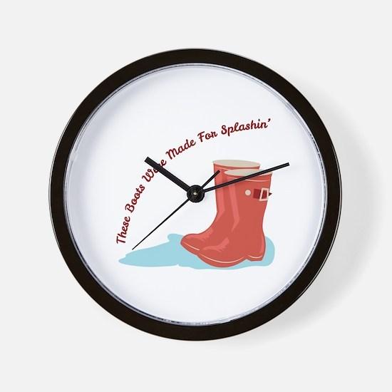 Boots Splashin Wall Clock