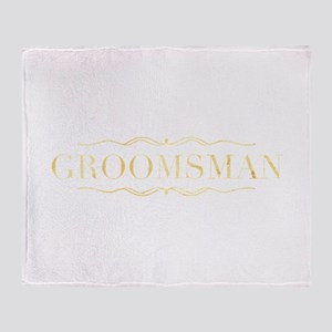 Bridal Party- Groomsman Throw Blanket