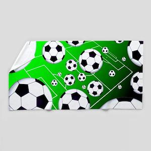Soccer Field Beach Towel