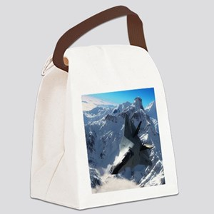 F-22 Raptor Canvas Lunch Bag