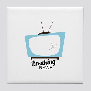 Breaking News Tile Coaster