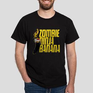 Zombie Ninja Banana Dark T-Shirt