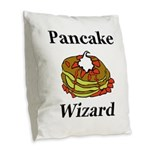 Pancake Wizard Burlap Throw Pillow